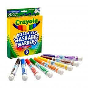 Crayola Ultra-Clean Washable Markers - 8 Classic Colors