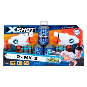 XSHOT 36120 Double Combo 2 x MK 3 Blaster with 16 Darts & 3 Target Boxes