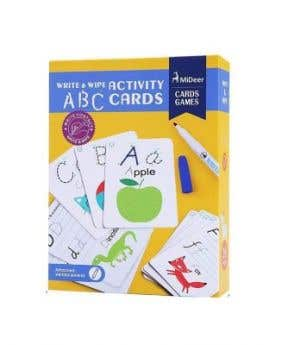 MiDeer Wipe And Write Activity ABC Card
