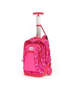 Stardust 2 in 1 Backpack and Trolley - Pink Flower