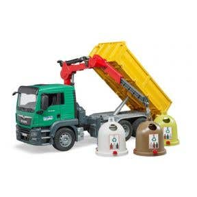 Bruder MAN Glass Recycling Truck with Containers (3753)